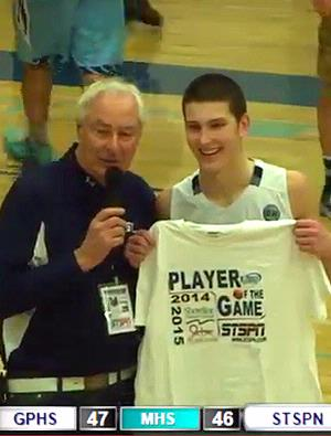 Justin Guffey - Player of the Game